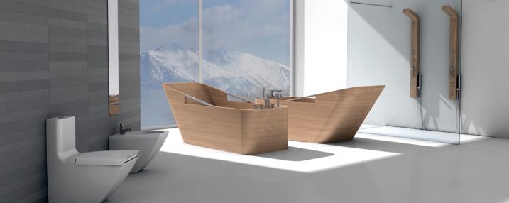italienische luxus b der mit badewannen aus edlem holz lifestyle und design. Black Bedroom Furniture Sets. Home Design Ideas