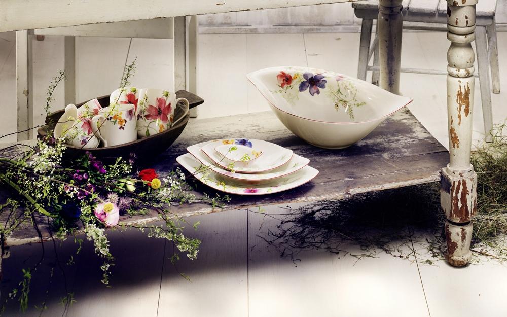 neues geschirr mit floraler dekoration von villeroy boch lifestyle und design. Black Bedroom Furniture Sets. Home Design Ideas