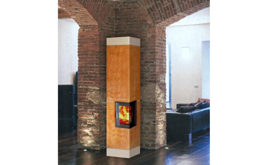 Kaminofen design zeppelin in der farbe rot von keramik art for Raumgestaltung otto
