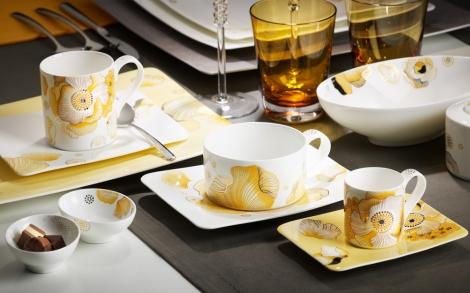 Porzellan Und Geschirr Design Villeroy Boch Fruehlingskollektion 2012  Kaffeegeschrirr Modern Grace Peonia