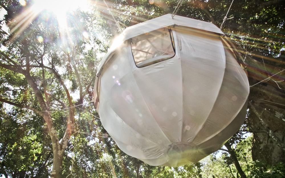 der cocoon tree ein zelt zum aufh ngen im baum. Black Bedroom Furniture Sets. Home Design Ideas