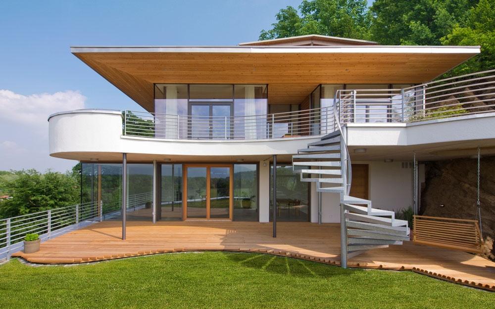 Architektenhaus Weitblick Gartenansicht