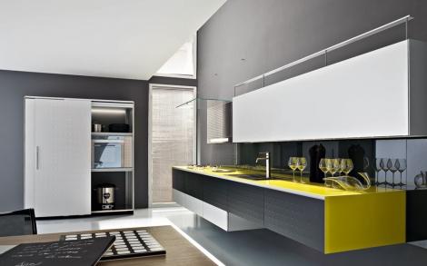 Moderne kuechen valcucine kueche riciclantica aluminium lackiert schwarz