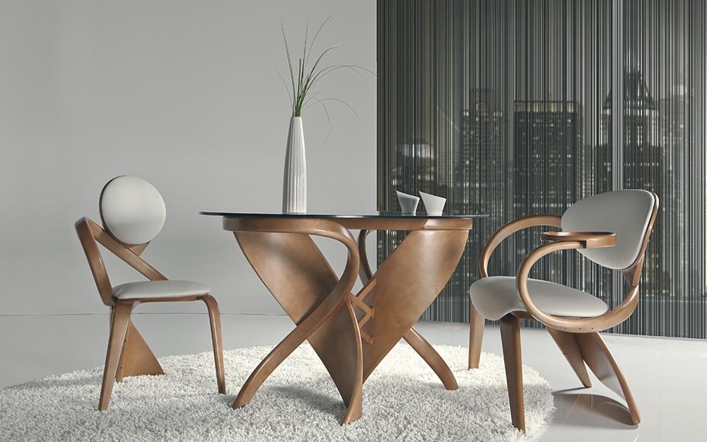 Designer Essgruppe Aus Holz