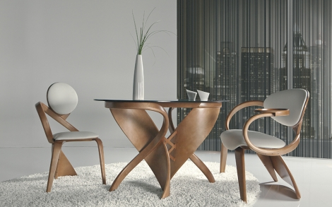 Designer Essgruppe aus Holz | Lifestyle und Design