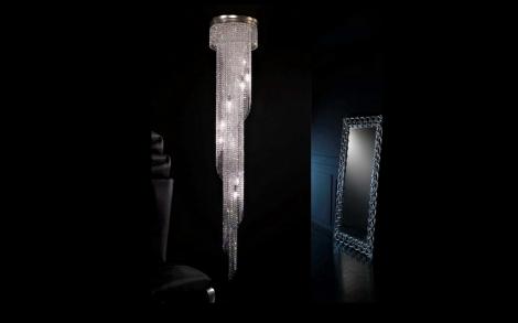 Moderner spiralenf rmige 12 flammige kristallleuchter lifestyle und design - Kristallleuchter modern ...