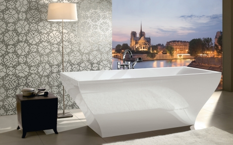 eckige badewanne aus quaryl von villeroy boch lifestyle und design. Black Bedroom Furniture Sets. Home Design Ideas