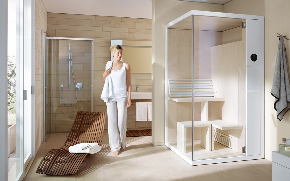 sauna auf kleinstem raum von duravit lifestyle und design. Black Bedroom Furniture Sets. Home Design Ideas