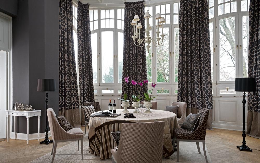 gardinen deko edle stoffe vorh nge gardinen dekoration verbessern ihr zimmer shade. Black Bedroom Furniture Sets. Home Design Ideas