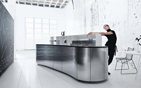 Küche Alessi aus Edelstahl, edles Küchen Design von ...