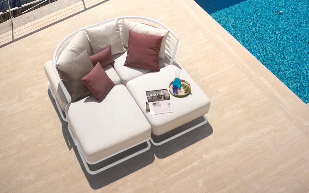 Garten Lounge Liege für 2 Personen   Lifestyle und Design