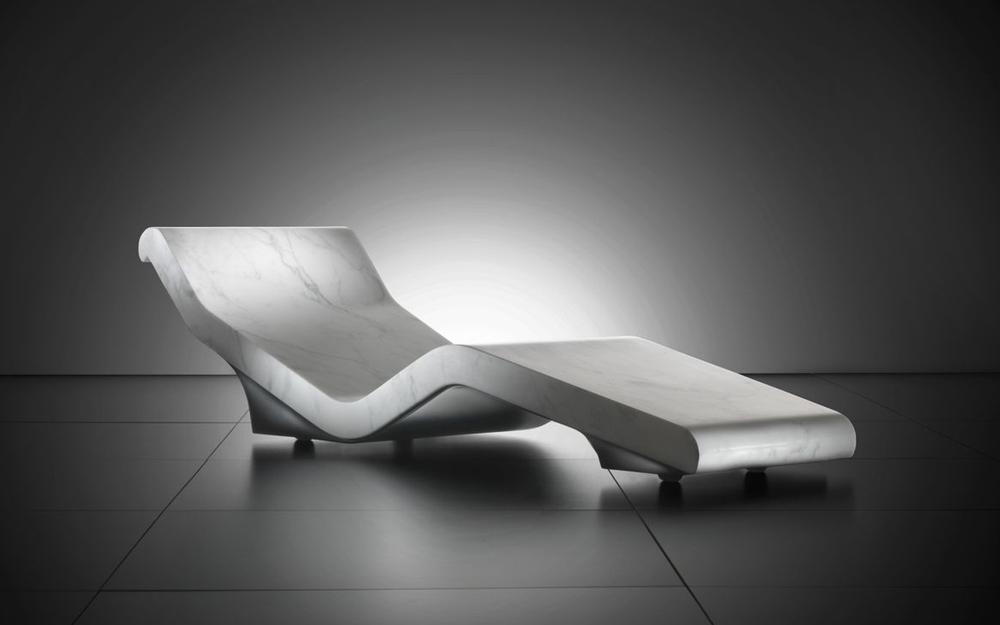 beheizbare relax liege aus marmor lifestyle und design. Black Bedroom Furniture Sets. Home Design Ideas