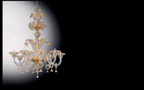 muranoglaskrone 9 flammigen lifestyle und design. Black Bedroom Furniture Sets. Home Design Ideas