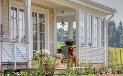 Schwedenhaus mit veranda  Geschützte Veranda am Schwedenhaus | Lifestyle und Design