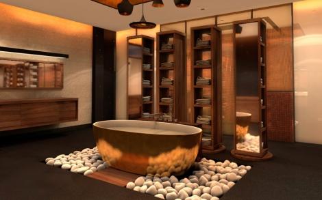 ein traum in gold badewanne von aquamass lifestyle und. Black Bedroom Furniture Sets. Home Design Ideas