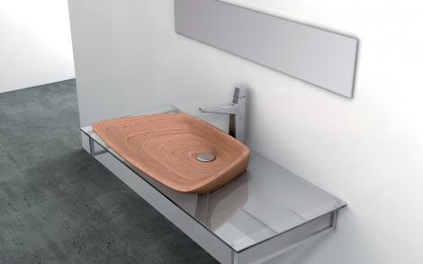 Italienische luxus b der mit waschtisch aus edlem holz for Designer waschtische badezimmer