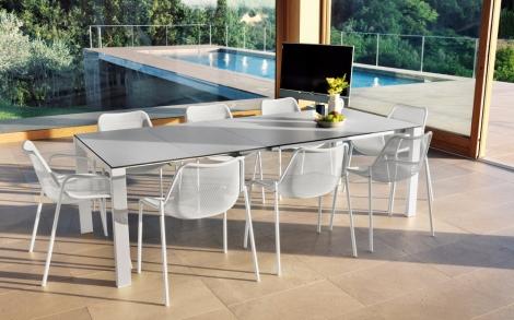 Gartenmöbel design  Weiße Designer Outdoor Garnitur Round | Lifestyle und Design