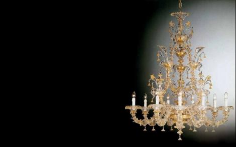 Kronleuchter Aus Murano Glas ~ Runder messing kronleuchter mit murano glas von glustin creation