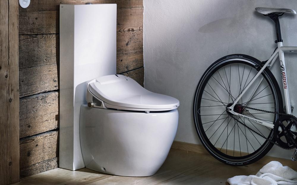 toilette mit dusche lifestyle und design. Black Bedroom Furniture Sets. Home Design Ideas