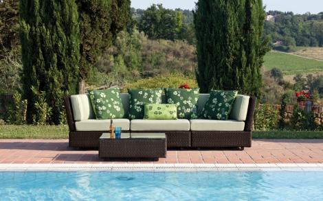 garten sitzbank mit sitzpolstern von emu lifestyle und design. Black Bedroom Furniture Sets. Home Design Ideas