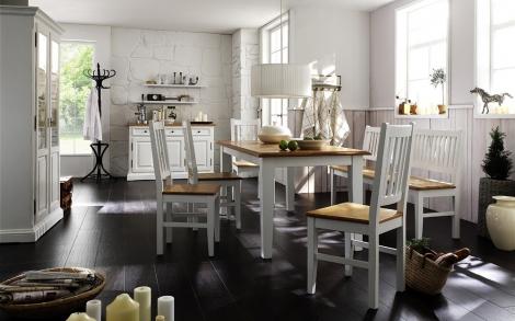 bezaubernde landhaus essgruppe in wei lifestyle und design. Black Bedroom Furniture Sets. Home Design Ideas