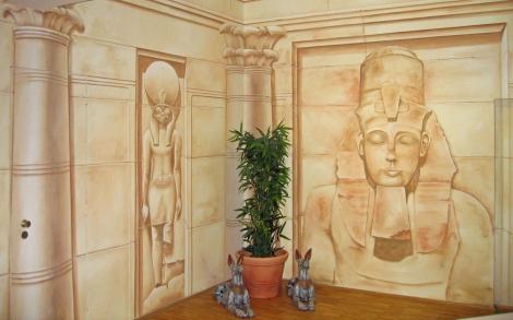 Wandgestaltung durch wandmalerei mit wandfarben - Wandgestaltung mit stoff ...