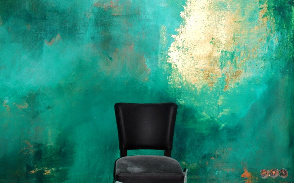Wandgestaltung durch wandmalerei mit wandfarben for Wandfarbe gold farbe wandgestaltung
