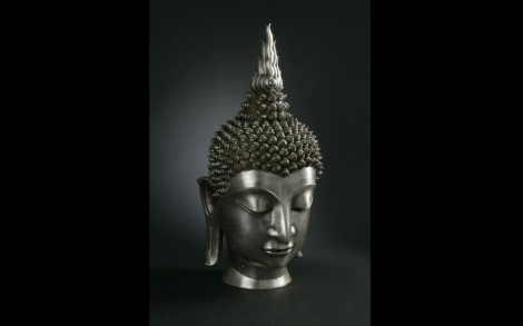Bronze Skulpturen Buddha Sklupturen Von VG Buddhakopf TESTA BUDDA BRONZO