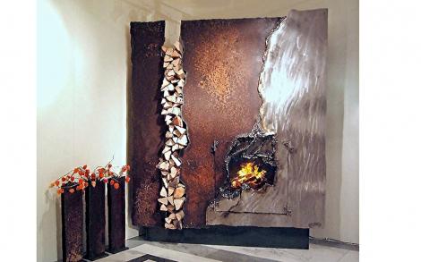 designer kamin rostig von gahr metallart lifestyle und design. Black Bedroom Furniture Sets. Home Design Ideas