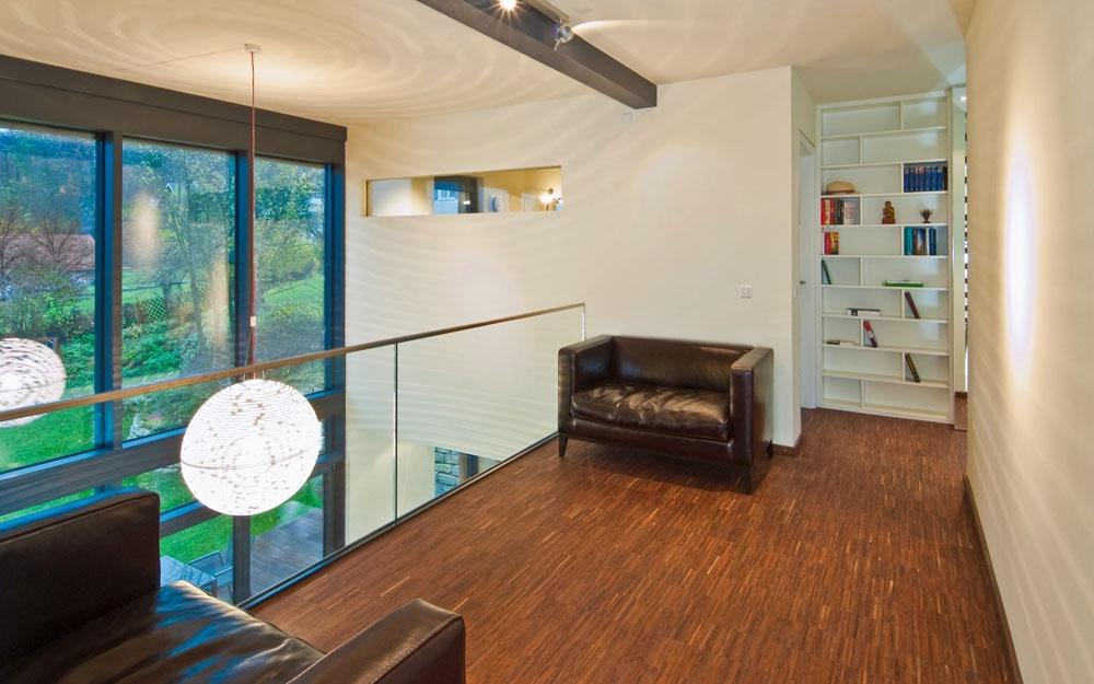 Weitl ufiger balkon im design holzhaus von baufritz for Design holzhaus