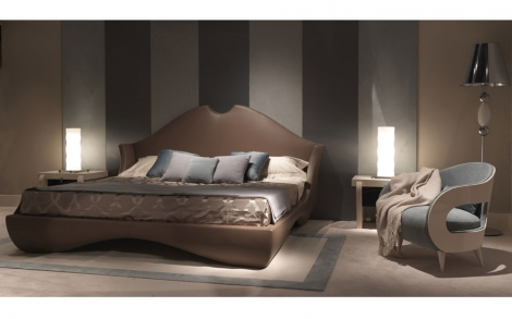 doppelbett und sessel italienische designer m bel von turri italien lifestyle und design. Black Bedroom Furniture Sets. Home Design Ideas