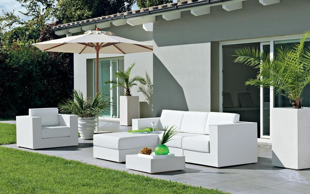 Rankgitter als sichtschutz im garten von unopiu for Muebles palets jardin exterior