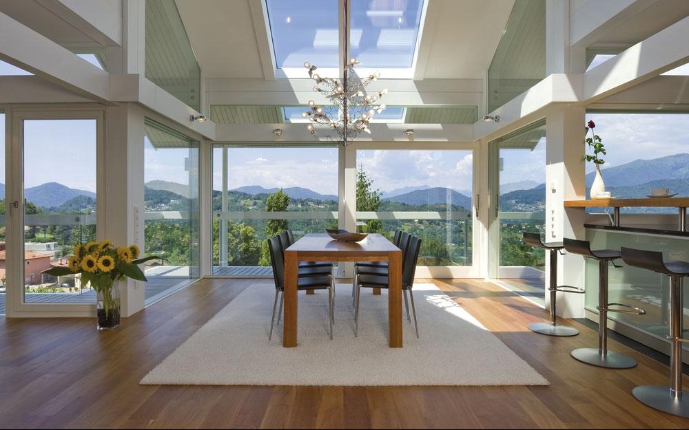 Design haus art 3 white in glas und holz architektur von for Vetrate case moderne