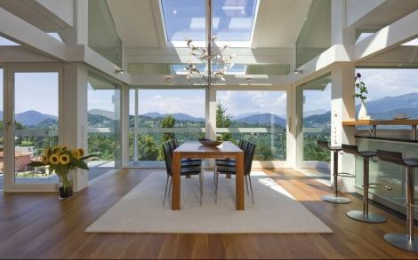 Design haus art 3 white in glas und holz architektur von for Architektenhaus galerie 3