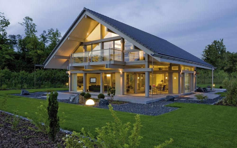 Design Haus Art 4 grey in Glas und Holz Architektur von Huf HAUS ...