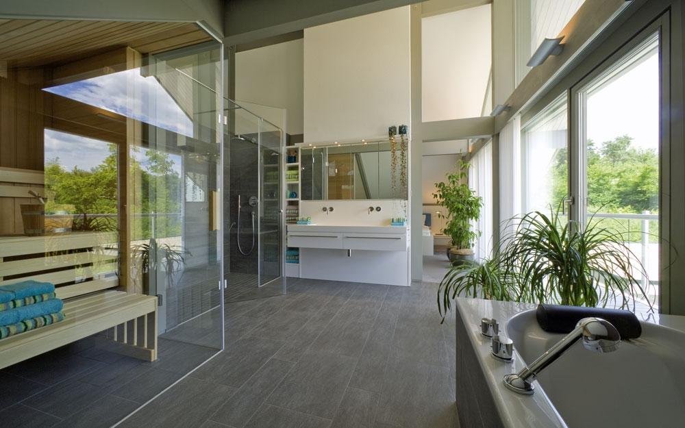 Design haus art 4 grey in glas und holz architektur von for Haus design innen