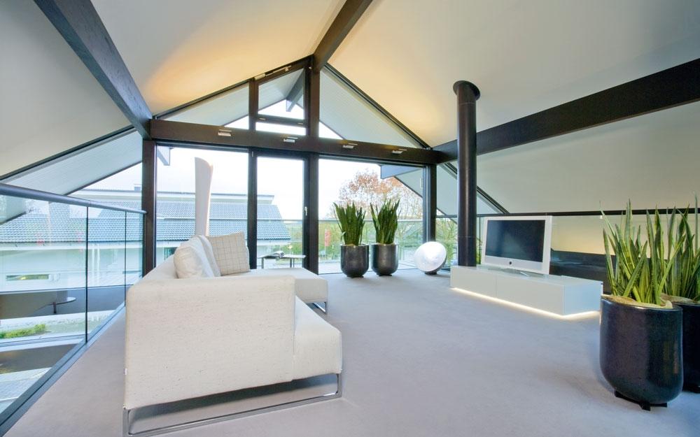 Design haus art 5 green in glas und holz architektur von for Design haus