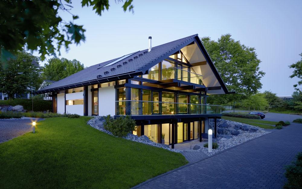 Design Haus Art 5 green in Glas und Holz Architektur von Huf HAUS ...
