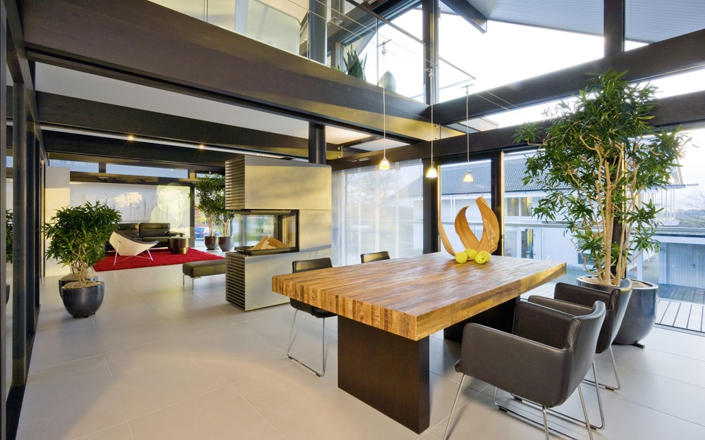 Design Haus Art 5 green in Glas und Holz Architektur von ...