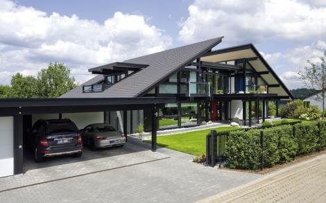 Design Haus Art 8 Black In Glas Und Holz Architektur Von Huf Haus