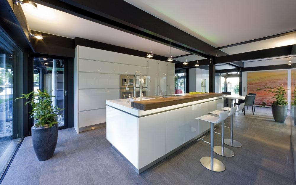 Design haus art 9 black in glas und holz architektur von for Architektenhaus galerie 3