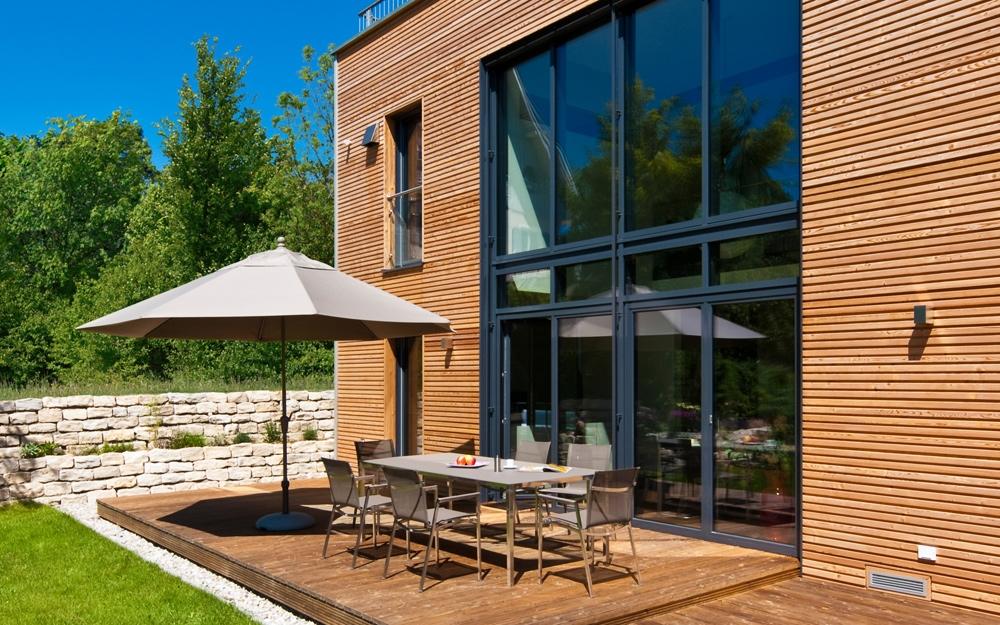 moderne architektur als design haus von baufritz lifestyle und design. Black Bedroom Furniture Sets. Home Design Ideas