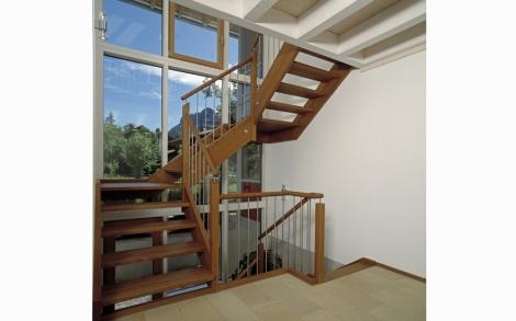 Lichter Treppenaufgang Im Haus Schauer Von Baufritz Lifestyle Und