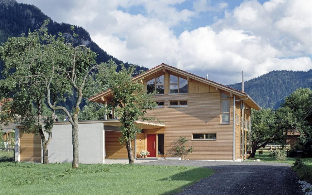 kologisch hochwertiges landhaus schauer von baufritz. Black Bedroom Furniture Sets. Home Design Ideas