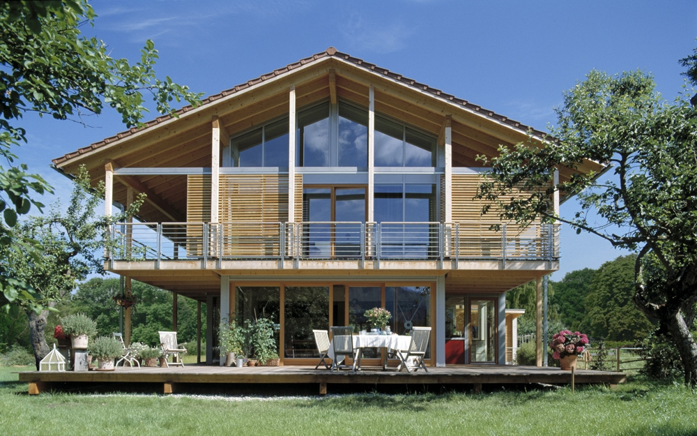 haus schauer im landhausstil von baufritz lifestyle und. Black Bedroom Furniture Sets. Home Design Ideas