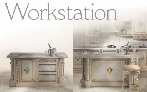 Workstation, edle, italienische Küchen von Angelo Cappellini ...