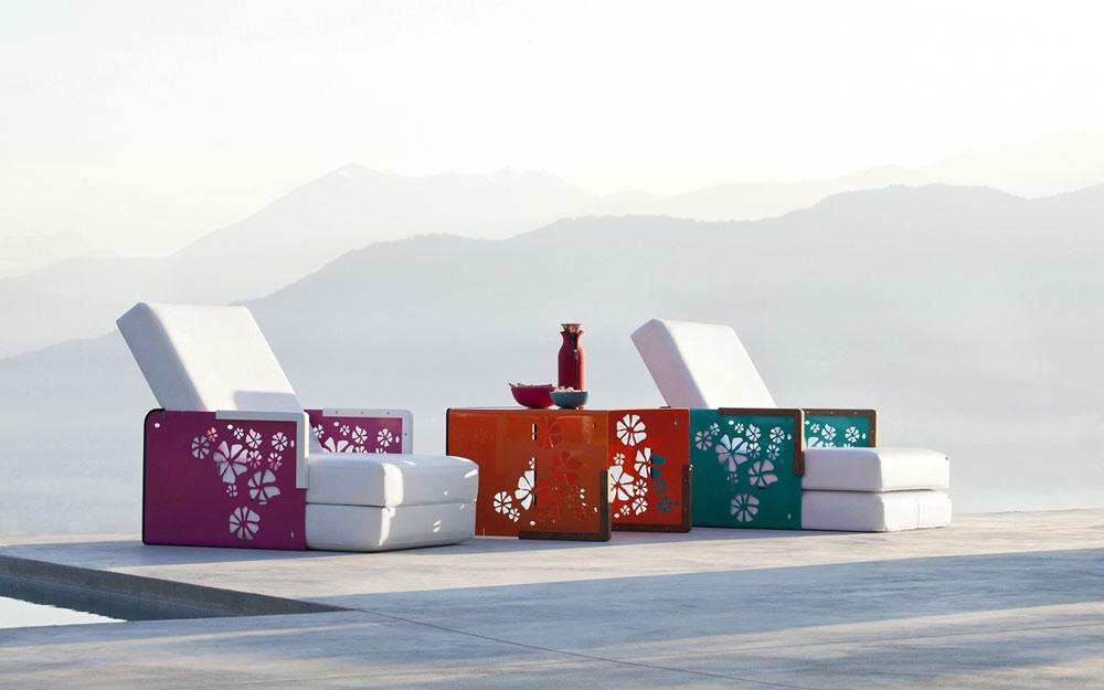 Gartenliege exklusive outdoor designerm bel und - Gartenliege design ...