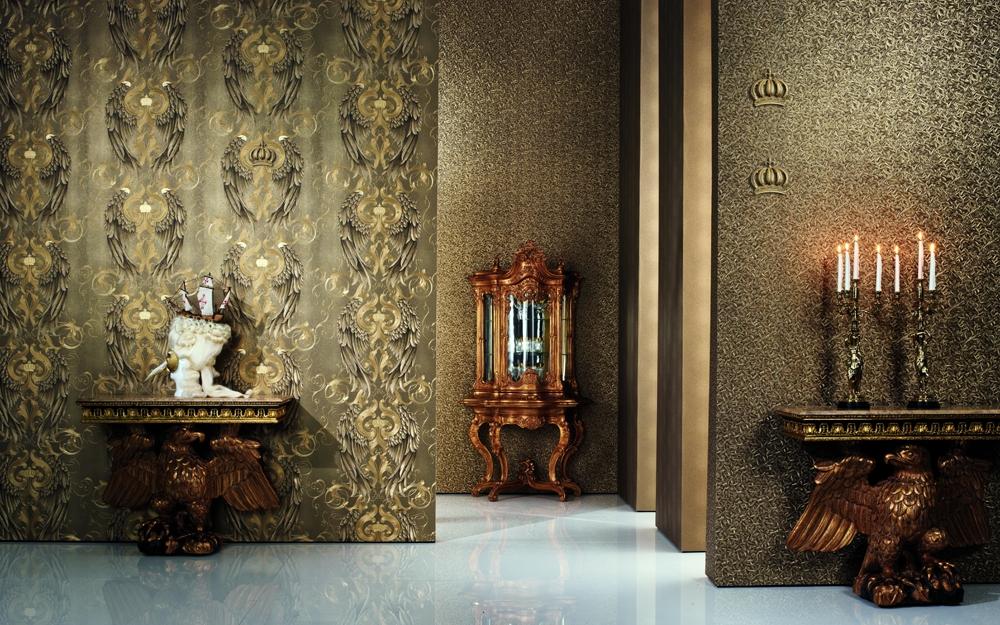 pomp se vliestapete mit engelsfl gel designt von harald gl ckler lifestyle und design. Black Bedroom Furniture Sets. Home Design Ideas