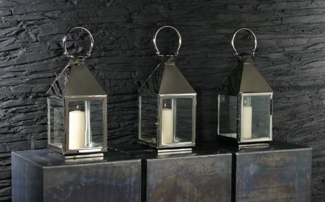 Kerzen Candles Kerzenstaender Und Windlichter Von VG Windlicht LANTERNA  ACCIAIO FINITURA NICKEL 2