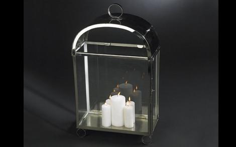 Kerzen Candles Kerzenstaender Und Windlichter Von VG Windlicht LANTERNA  HOUSE RECTANGULAR ACCIAIO